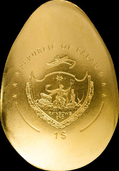 Palau - 2019 - 1 Dollar - Golden Egg DRAGON