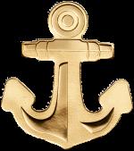 Palau - 2019 - 1 Dollar - Golden Anchor small gold