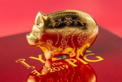 Mongolia - 2019 - 1000 Togrog - Golden Jolly Silver Pig