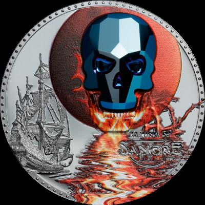 Equatorial Guinea - 2019 - 1000 Francs - Crystal Skull Luna de Sangre