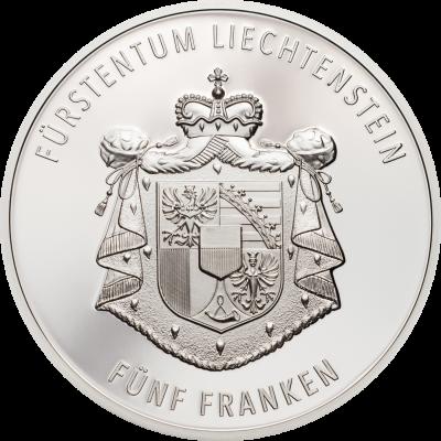 Liechtenstein - 2019 - 5 Franken - 300 Year Liechtenstein