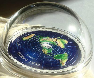 Palau - 2019 - 20 Dollars - Great Conspiracies FLAT EARTH