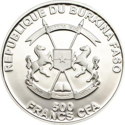 Burkina Faso - 2013 - 500 Francs - Lila Brested Roller