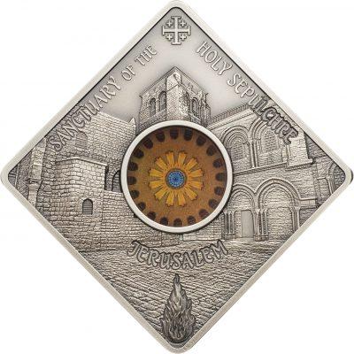 Palau - 2018 - 10 Dollars - Sacred Art HOLY SEPULCHRE JERUSALEM