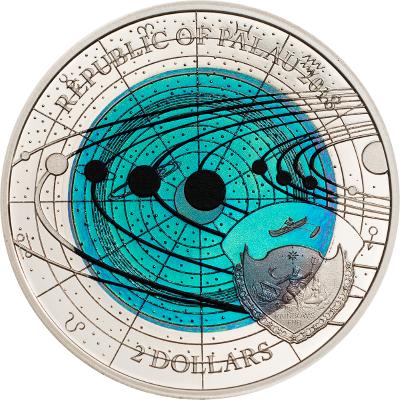 Palau - 2018 - 2 Dollar - Uranus Niobium Solar System