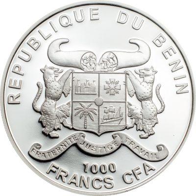 Benin - 2019 - 1000 Francs - Peace & Love Cannabis Sativa High Relief