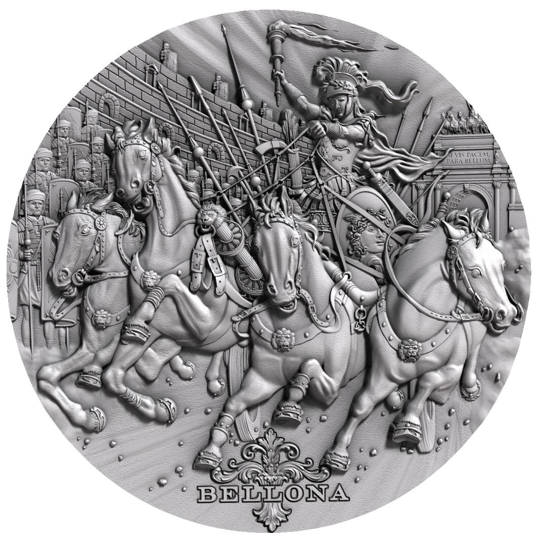 Niue - 2018 - 2 Dollars - Roman Gods BELLONA