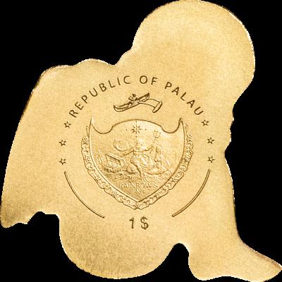 Palau - 2019 - 1 Dollar - My Golden Guardian Angel