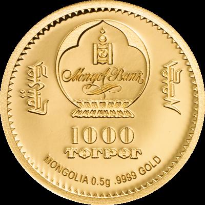 Mongolia - 2019 - 1000 Togrog - Golden Edelweiss