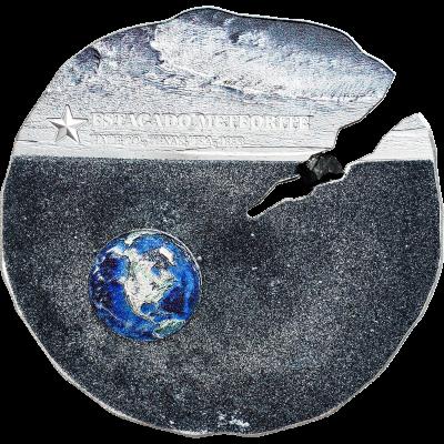 Cook Islands - 2019 - 2 Dollars - Estacado Meteorite