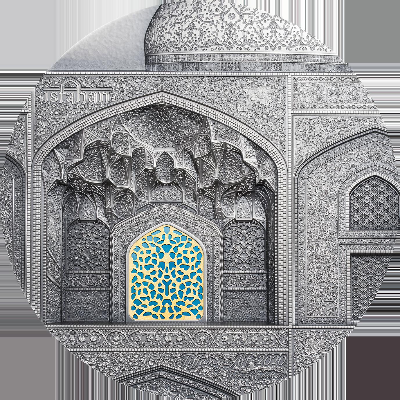 Palau - 2020 - 50 Dollars - Tiffany Art Isfahan 1 kilo
