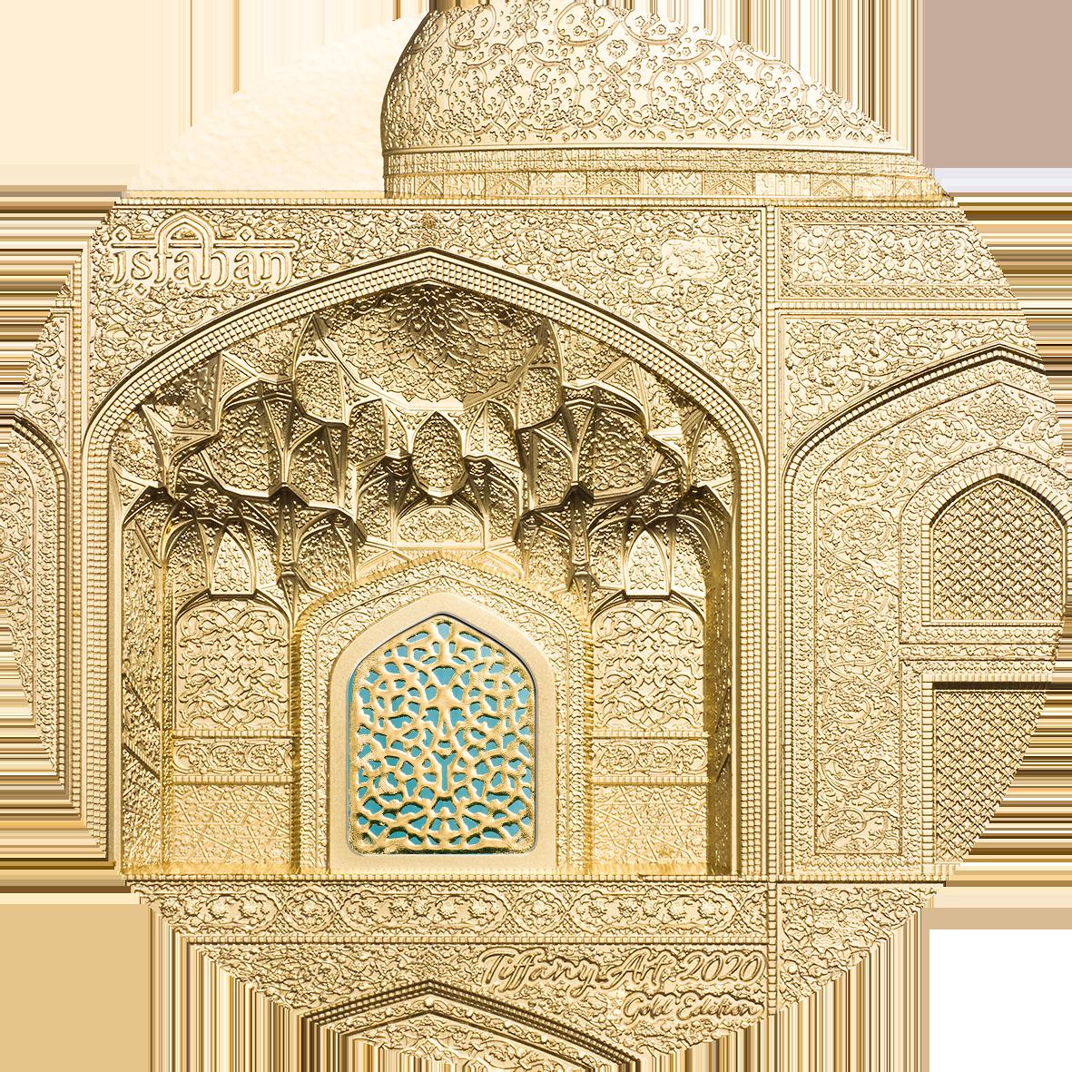 Palau - 2020 - 500 Dollars - Tiffany Art Isfahan Gold
