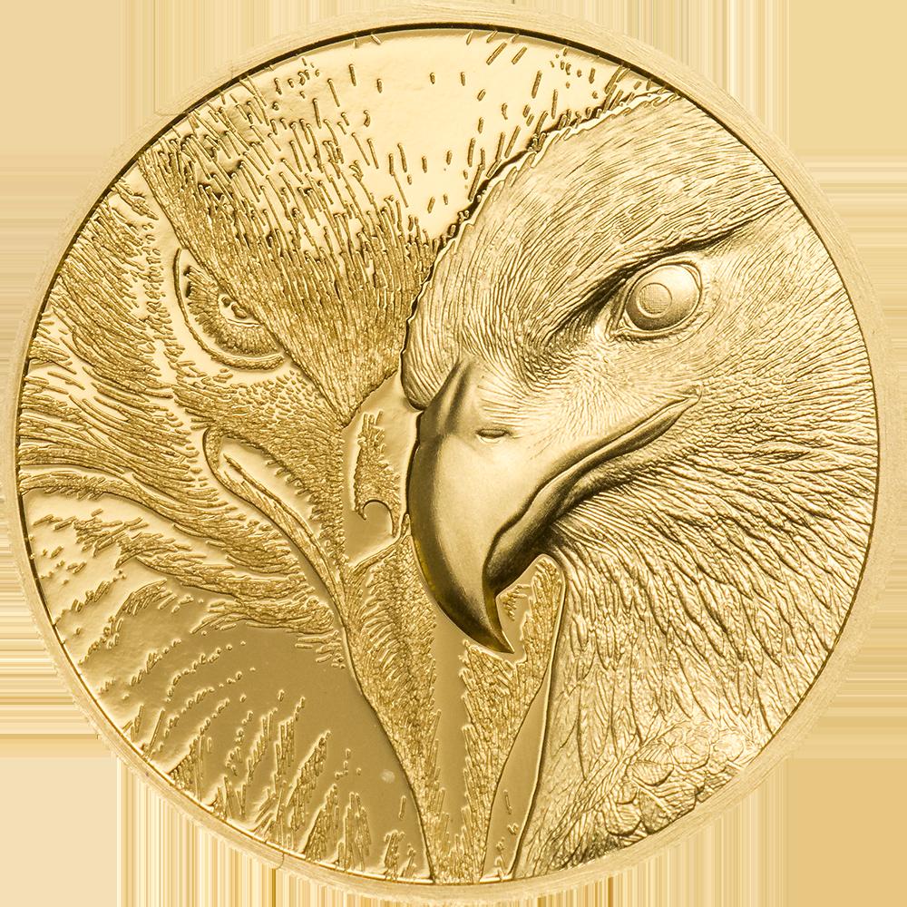 Mongolia - 2020 - 1000 Togrog - Majestic Eagle Gold 1/10 oz