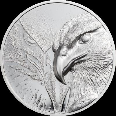 Mongolia - 2020 - 500 Togrog - Majestic Eagle Silver 1oz