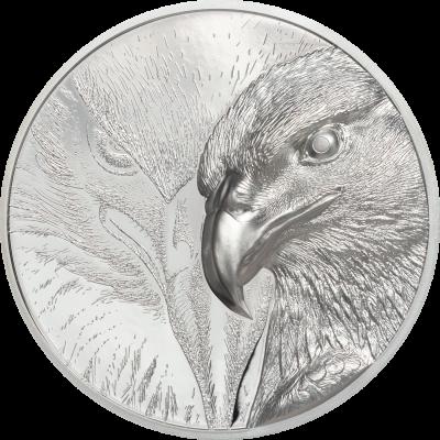 Mongolia - 2020 - 2000 Togrog - Majestic Eagle Silver 3oz