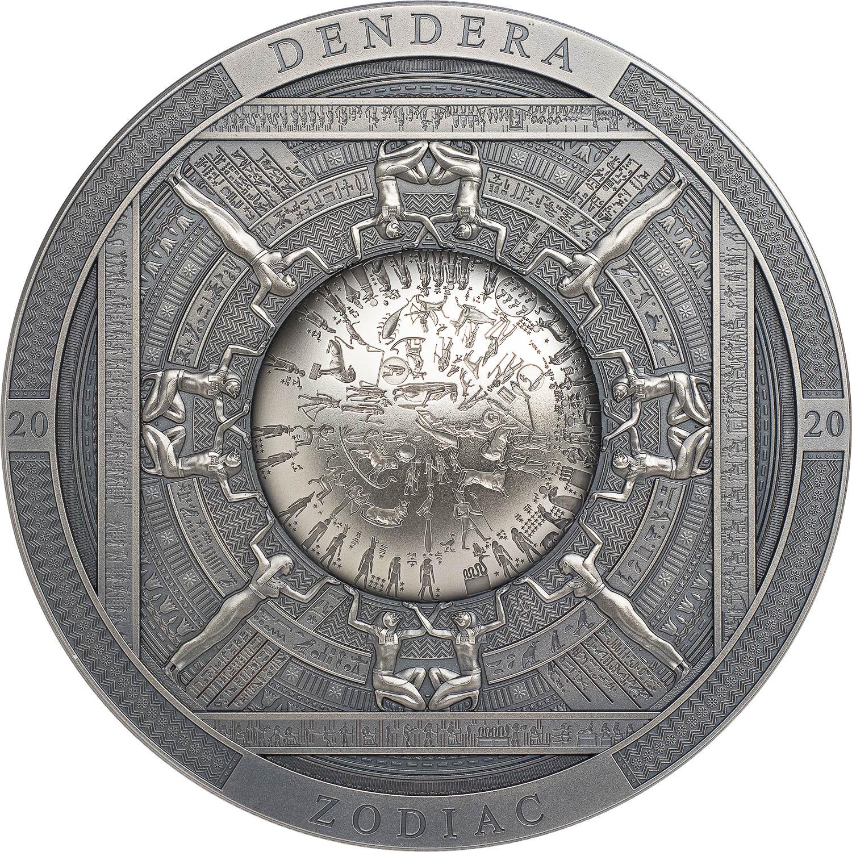 Cook Islands - 2020 - 20 Dollars - Dendera Zodiac / Archeology & Symbolism Series