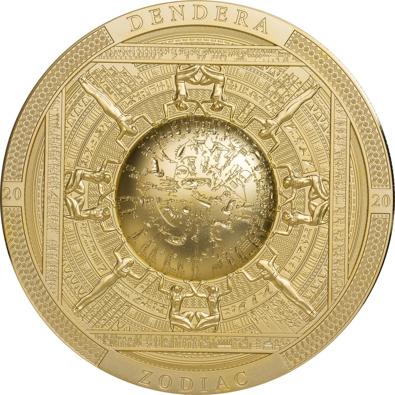 Cook Islands - 2020 - 20 Dollars - GILDED Dendera Zodiac / Archeology & Symbolism Series