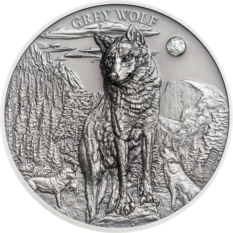 Palau - 2020 - 5 Dollars - American Grey Wolf