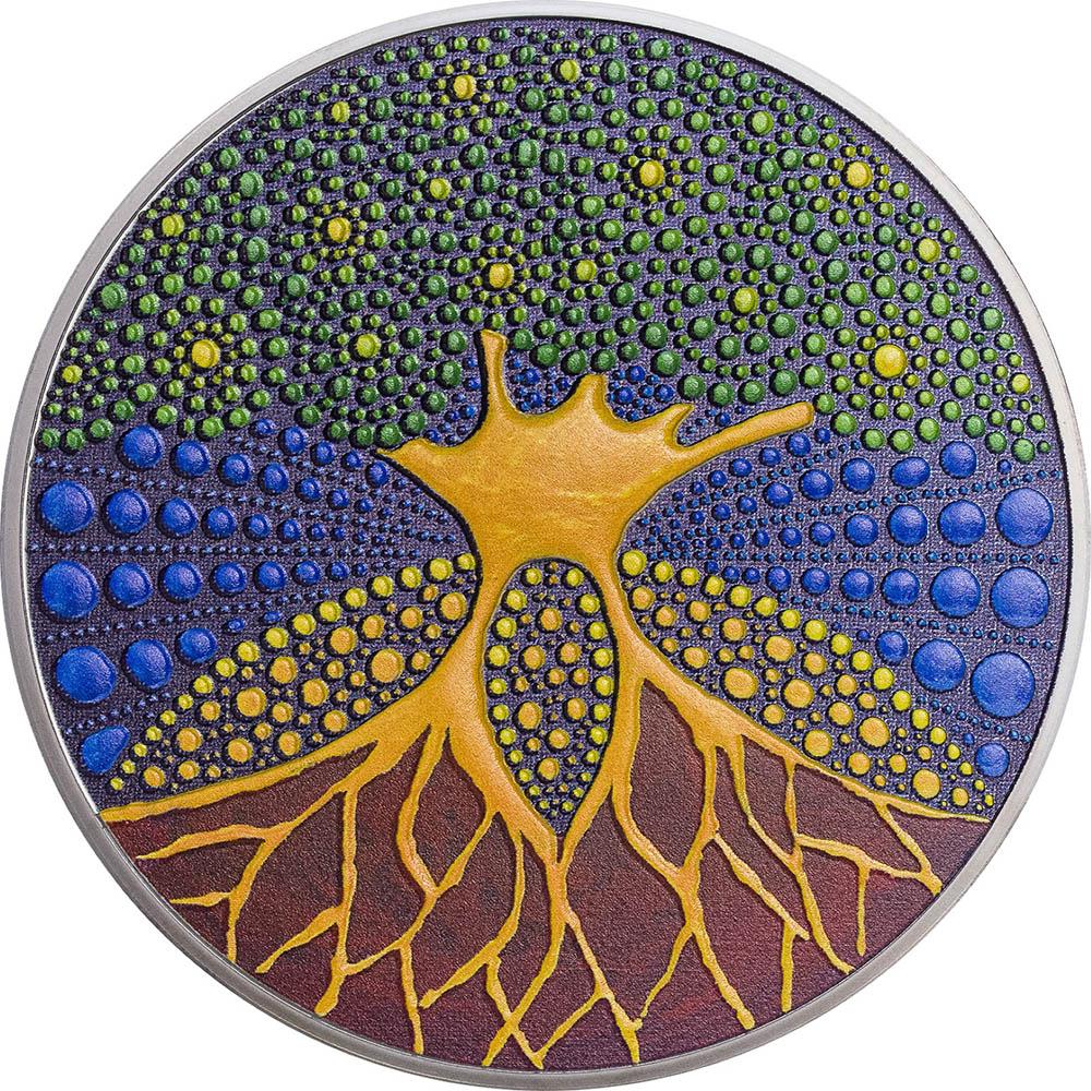 Palau - 2020 - 20 Dollars - Tree of Life / Dot Art series
