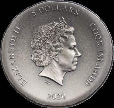 Cook Islands - 2020 - 5 Dollars - Tortoise