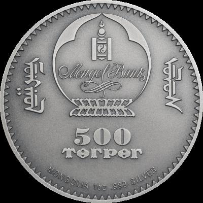 Mongolia - 2020 - 500 Togrog - Evolution of Life DIPLOCAULUS
