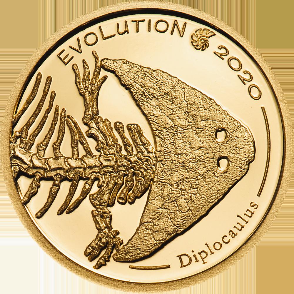 Mongolia - 2020 - 1000 Togrog - Evolution of Life DIPLOCAULUS small gold