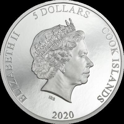 Cook Islands - 2020 - 5 Dollars - Viñales – Meteorites Impacts