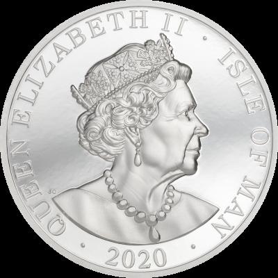 Isle of Man - 2020 - One Noble Ag Piedfort 2020