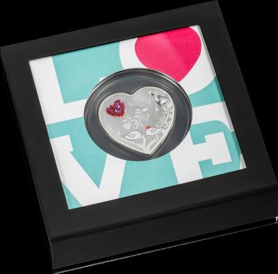Cook Islands - 2021 - 5 Dollars - Valentine's Day Heart
