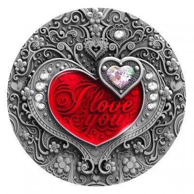 Niue - 2020 - 2 Dollars - I Love You Hearts