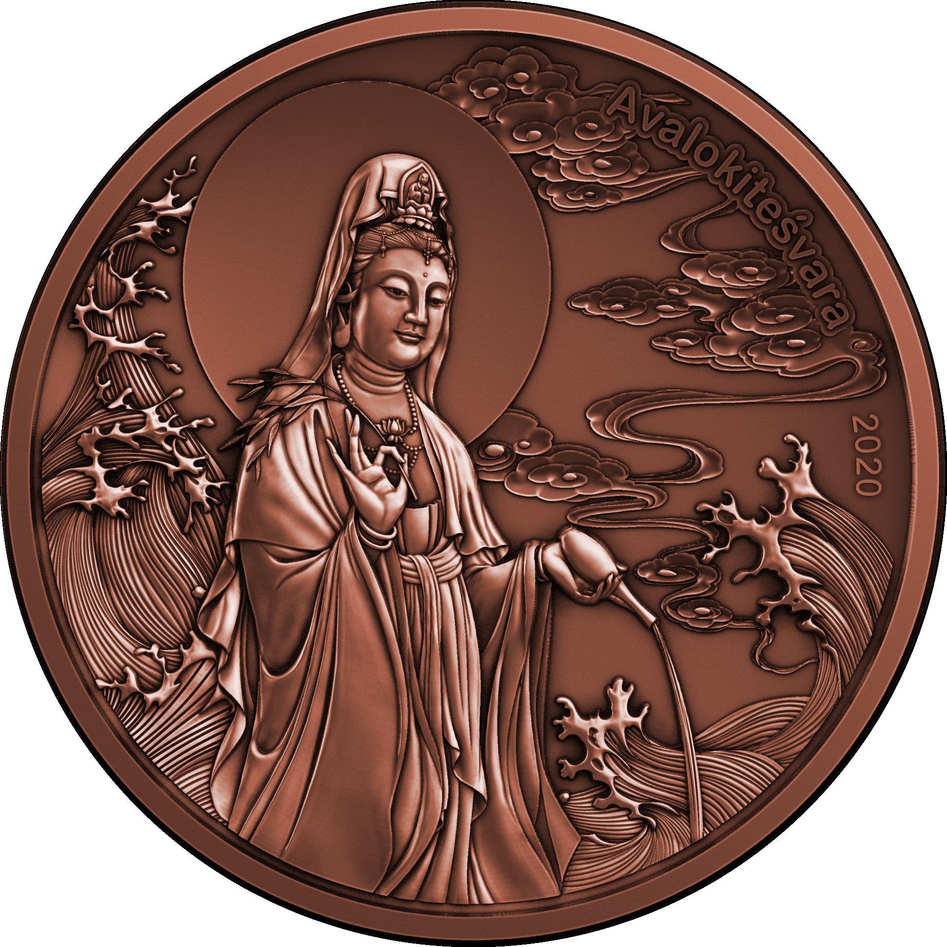 Samoa - 2020 - 1/2 Dollar - God Avalokitesvara (Copper)