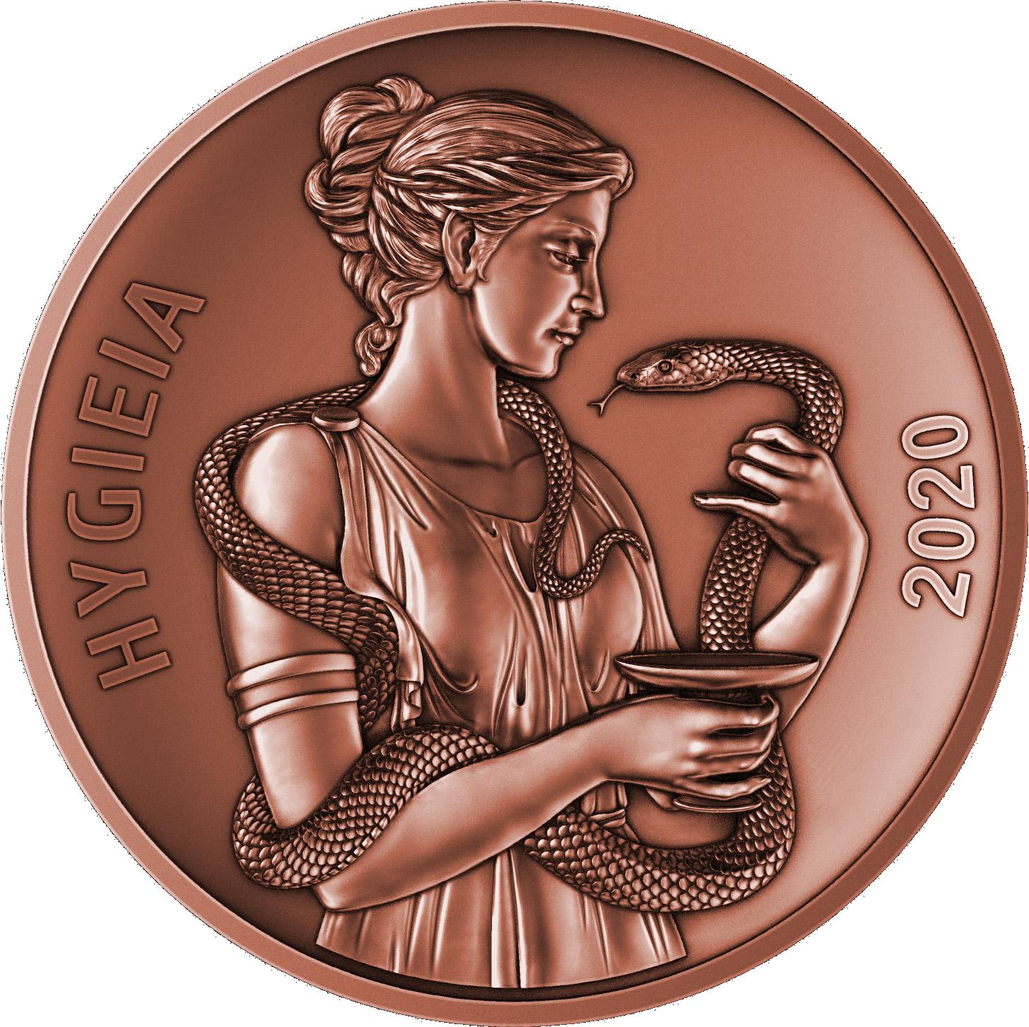 Samoa - 2020 - 1/2 Dollar - God Hygieia (Copper)