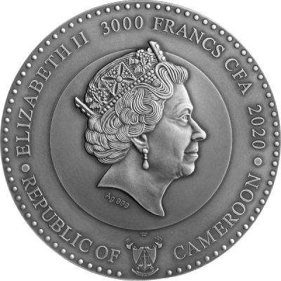 Cameroon - 2020 - 3000 Francs - Uranus Planets & Gods