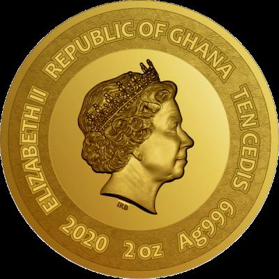 Ghana - 2020 - 10 Cedis - Sunflowers Van Gogh