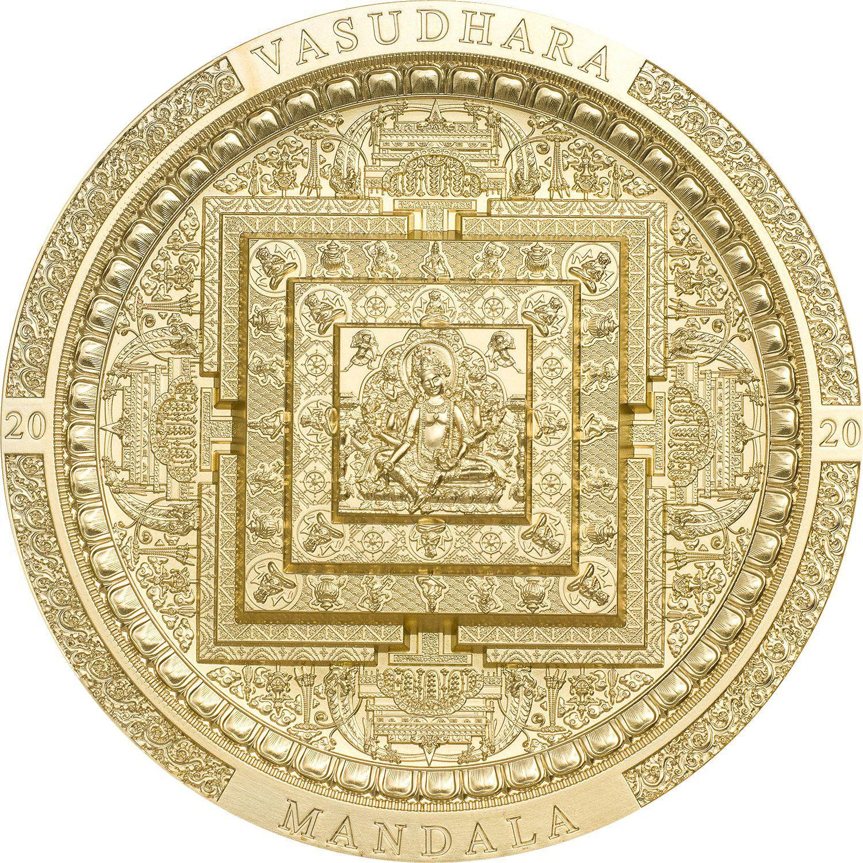 Mongolia - 2020 - 2000 Togrog - Vasudhara Mandala GILDED / Archeology & Symbolism Series