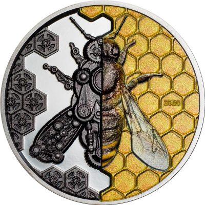 Mongolia - 2020 - 2000 Togrog - Mechanical Bee / Clockwork Evolution series