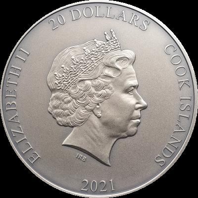 Cook Islands - 2021 - 20 Dollars - Gods Of The World AMATERASU