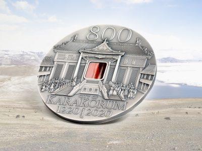Mongolia - 2020 - 5000 Togrog - Karakorum 800th Anniversary with Tiffany glass
