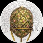 Mongolia - 2021 - 1000 Togrog - Peter Carl Fabergé – Rose Trellis