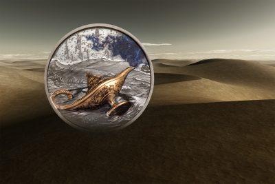 Palau - 2021 - 5 Dollars - Magical Lamp / 1001 Nights