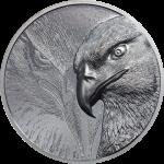 Mongolia - 2020 - 1000 Togrog - Majestic Eagle Silver 2oz black proof