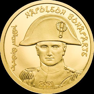 Mongolia - 2021 - 1000 Togrog - Napoleon Bonaparte (small gold)