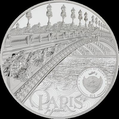 Palau - 2021 - 50 Dollars - Tiffany Art Metropolis – Paris kilo silver