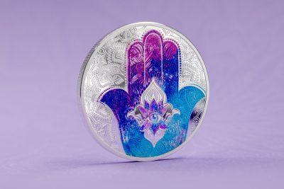 Palau - 2021 - 5 Dollars - Hand of Hamsa