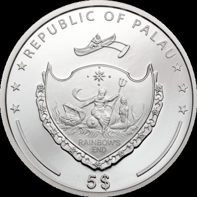 Palau - 2021 - 5 Dollars - Lady Luck
