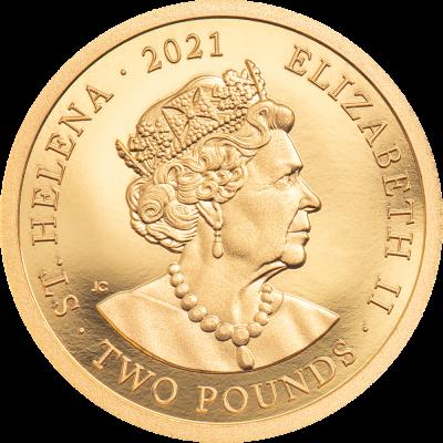 Saint Helena - 2021 - 2 Pounds - Napoleon 200th Anniversary (small gold)
