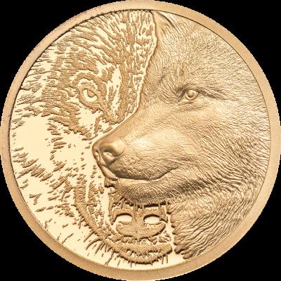 Mongolia - 2021 - 1000 Togrog - Mystic Wolf Gold 1/10oz