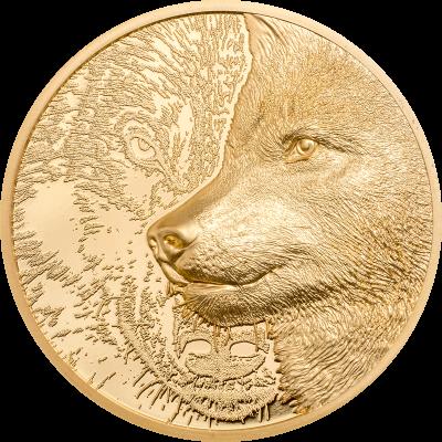 Mongolia - 2021 - 25000 Togrog - Mystic Wolf Gold 1oz