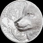 Mongolia - 2021 - 500 Togrog - Mystic Wolf Silver 1oz