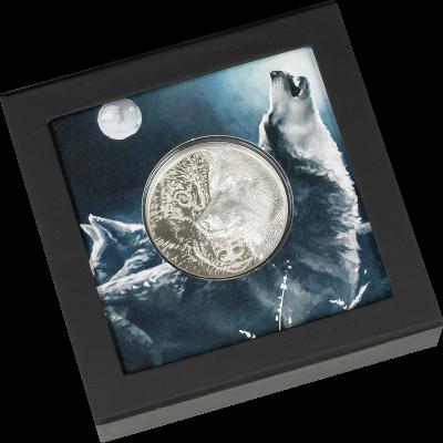 Mongolia - 2021 - 2000 Togrog - Mystic Wolf Silver 3oz